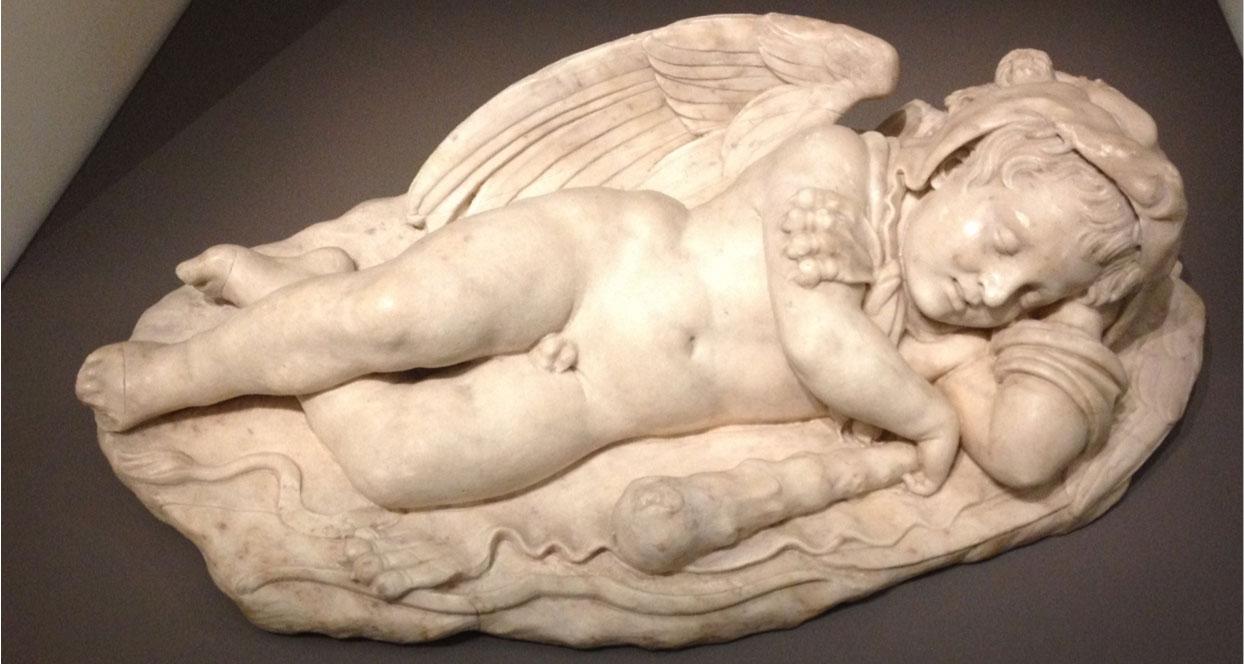 Eros dormiente, capolavoro attribuito a Michelangelo